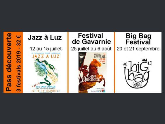 Pass découverte 3 festivals